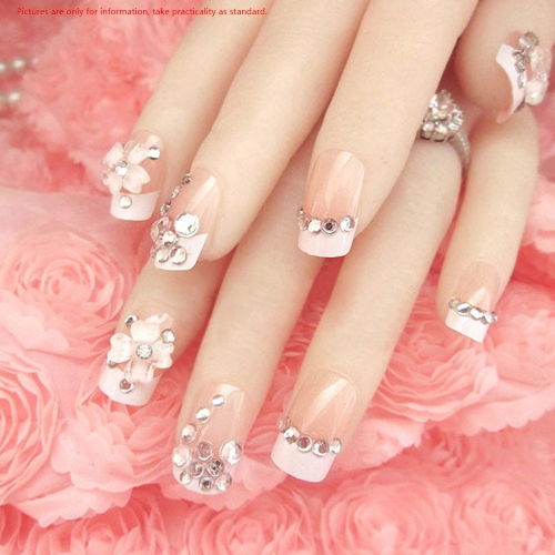 Buy 1Set 8 Styles DIY Pink Nail Art Stickers Tips Decoration Mixed Style Round Wheel Tools