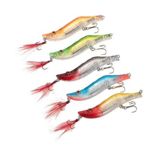 Buy Lixada 8cm/14g Fishing Shrimp Craw Prawn Lures Hard Artificial Set Box Lead Weighted