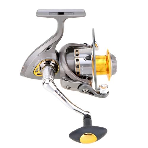Spinning Reel Smooth Drag Fishing Reel 1000-5500 Series Gray Fishing Reel 6+1BB