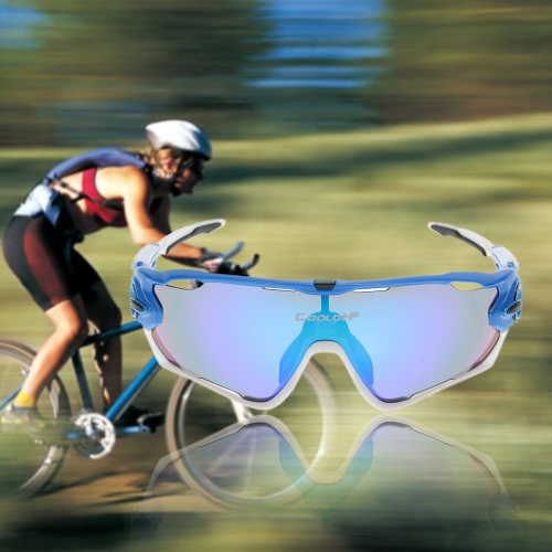 Buy Polarized UV Protection Cycling Sunglasses Bicycle Bike Sports Sun Glasses Goggles 4 Interchangeable Lenses Unbreakable Riding Driving Fishing Running Golf