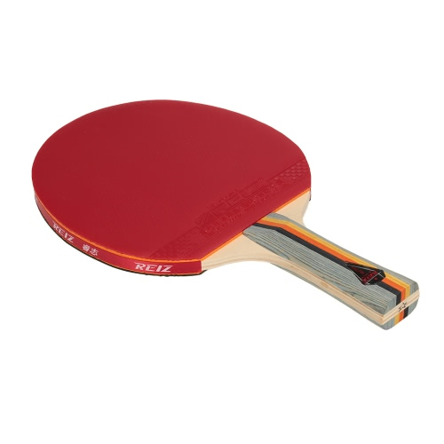 Buy u200bSports Ping Pong Paddle Racket Long/Short Handle Dual-side Shake-hand Pen-hold Looping-style Table Tennis Bat Case Pouch Loop Player