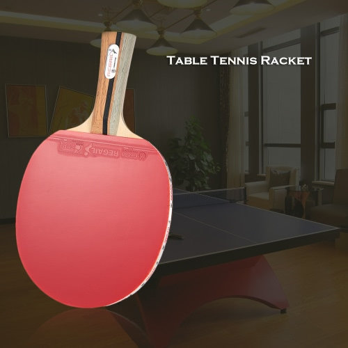 Buy Wooden Handle Table Tennis Racket Ping Pong Paddle Bat Blade Shakehand Grip Carrying Bag