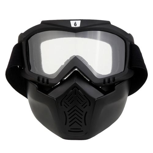 Buy WOLFBIKE Unisex MTB Biking Cycling Glasses Goggles Skiing Windproof Mask Face Detachable Motorcycle Snowboard Skate Eyeglasses Eyewear Mouth Filter