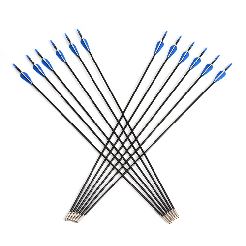12pcs Fiberglass Targeting Arrows 6mm Arrow Shaft Diameter for Outdoor Target Practice Recurve Bow thumbnail
