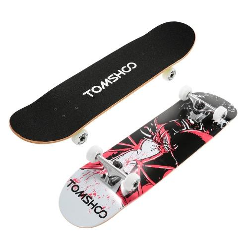 """TOMSHOO 31"""" Pro Complete Skateboard Maple Wood Longboard Skate Board thumbnail"""
