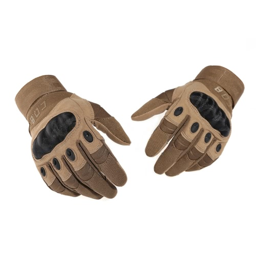 CQB Outdoor Gloves Half Finger Protection Riding Exercise Training Combat Non-slip Cut Resistant Gloves Sandy S