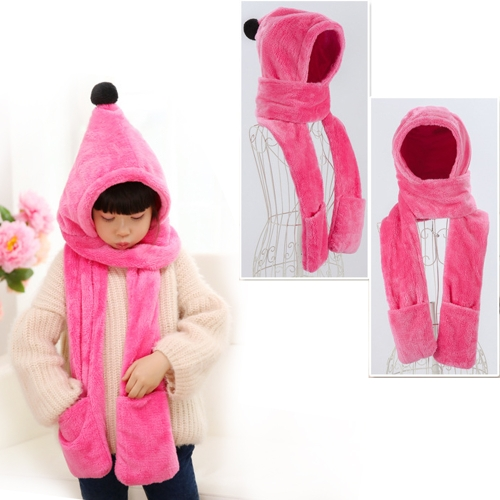 Parenting Style Autumn and Winter Collection Cute Extra Thick and Long Comfortable Warm Female Neck Scarf Hat Gloves Three Pieces