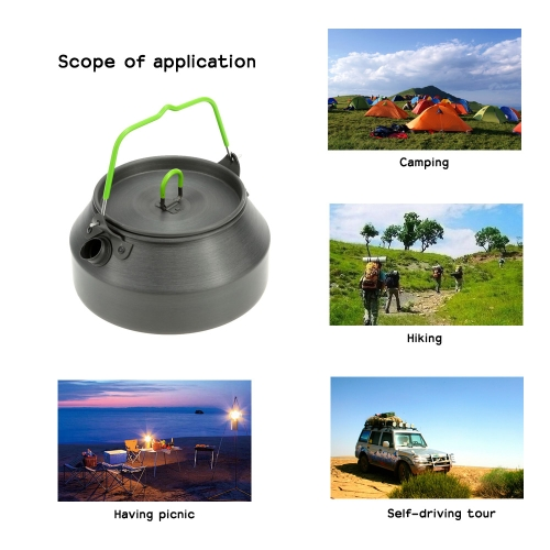 800ML Portable Ultra-light Outdoor Hiking Camping Picnic Water Kettle Teapot Coffee Pot Anodised Aluminum