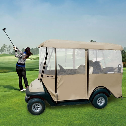 Buy TOMSHOO 4-Sided Golf Cart Cover Enclosure 4-Person Fairway Car