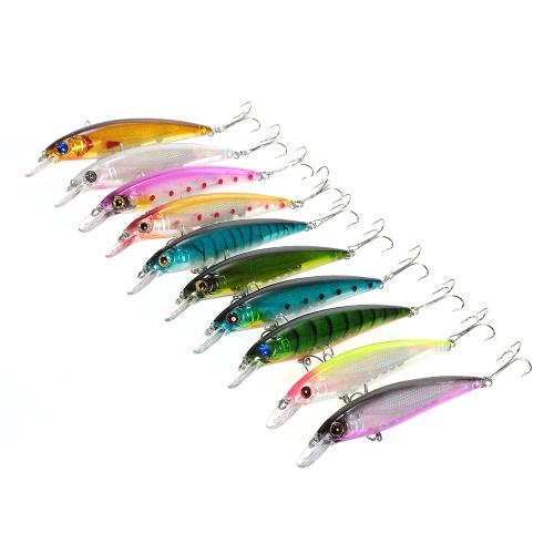 10pcs 11cm/13.5g Minnow Suspending Fishing Baits Lures Hard Bait Bass Artificial Crankbait Redfish Lure Swimbait Fishing