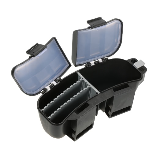 Multifunctional Portable Fishing Bait Tackle Box Storage Box Waist Carrier Lure Reel Holder Container Utility Box Case Fishing Hooks Accessory Box Waist Belt Multi-loader от Tomtop.com INT