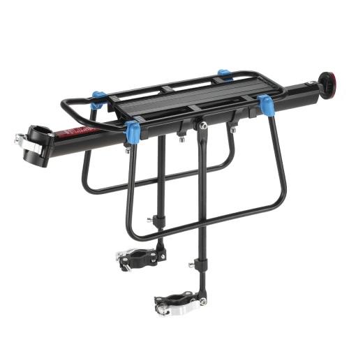 Lixada Quick Release Adjustable Bike Carrier Mount Rack Cycling Cargo Racks Aluminum Bicycle Rear Seat Post Pannier Luggage Shelf