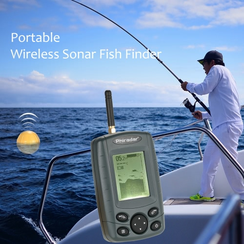 Buy Portable Wireless Sonar Sensor Fish Finder Outdoor 125KHz Fishing Depth Alarm Detector Tackle