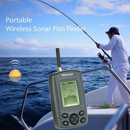 Buy Portable Wireless Sonar Sensor Fish Finder Outdoor 125KHz Fishing Depth Alarm Detector Tackle