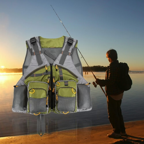 Adjustable Fly Fishing Vest Mesh for Men and Women Premium Gear Packs and Vests for Fly Fishing от Tomtop.com INT