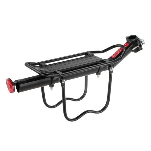 Lixada Adjustable Bicycle Cargo Carrier Rack Aluminum Alloy Bike Rear Seat Post Mount Cycling Pannier Luggage Shelf Reflector Lamp