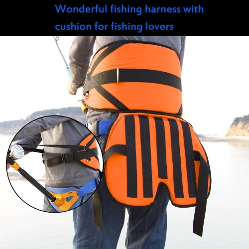 Big Fish Sea Fishing Harness with Cushion Fishing Tackles Adjustable Belt Thickened Pad от Tomtop.com INT