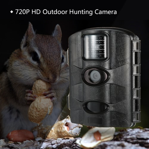 Lixada Digital Hunting Camera 12MP 720P Infrared Night Vision Game and Trail Camera Wildlife Scouting Camera Digital Surveillance Video Camera with Time Lapse