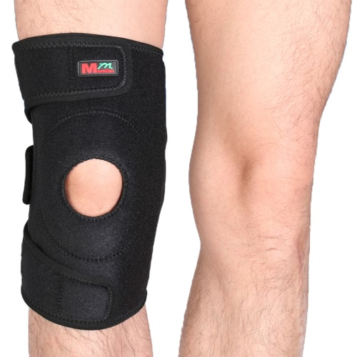 ?Mumian 1pcs Adjustable Breathable 3-fixing-band Sports Knee Pad Patella Protector Support Cycling Running Knee Warmer Mountaineering Winter Knee Protect Sleeve Brace Thickened