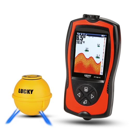 Buy LUCKY Portable 2-in-1 Rechargeable 2.4inch LCD Wireless Sonar Transducer Depth Locator ICE / Ocean Boat Fish Finder Alarm Detector