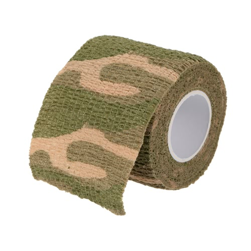 1 Roll Reusable Outdoor Military Camouflage Hunting Camping Cycling Wrap Elastic Stealth Tape 5CMx4.5M thumbnail