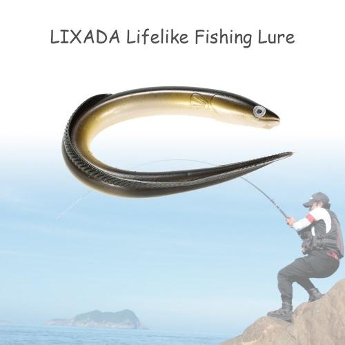 Lixada 1Pc 29.5cm/59g Simulation Fihsing Lure Swim Eel Artificial Lure Tackle Soft Bait Lifelike Smell Lure