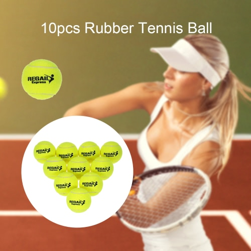 Buy 10pcs/bag Tennis Training Ball Practice High Resilience Durable Balls Beginners Competition