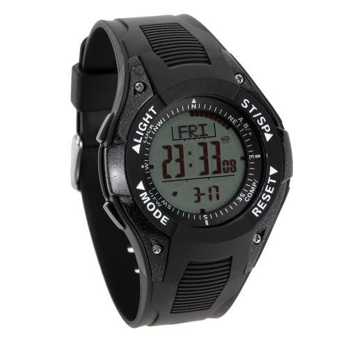 Buy SUNROAD 3ATM Waterproof Altimeter Compass Stopwatch Fishing Barometer Pedometer Outdoor Sports Watch Multifunction