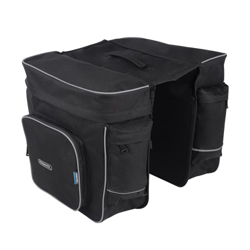 Buy ROSWHEEL Cycling 2 1 30L Bicycle Black Rear Double Side Rack Bag Tail Seat Pannier Outdoor Saddle Storage