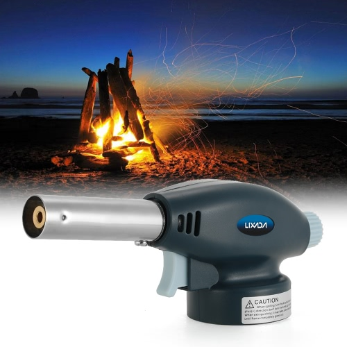Buy Lixada Flame Gas Torch Butane Burner Lighter Auto Ignition Flamethrower Outdoor Camping BBQ