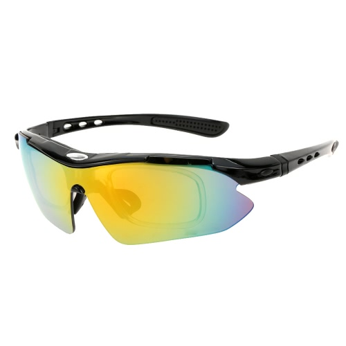 Buy Cycling Outdoor Sports Polarized Sun Glasses Bicycle Bike Riding Lightweight Unisex Goggles Eyewear 5 Lens UV400