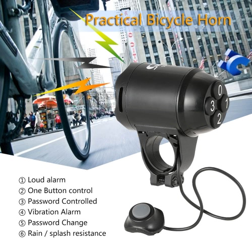 Lightweight Bicycle Horn Loud Electric Siren Alarm Cycling Bike Alarm Computer Electronic Horn