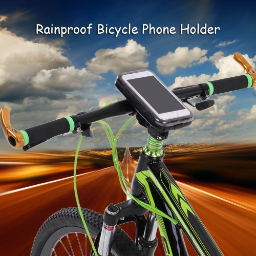"Lixada Rainproof Motorcycle Bike Bicycle Handlebar Mount Holder Case for 5.5"" Cell Phones"