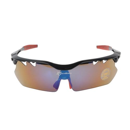 Buy ROCKBROS Polarized Cycling Sunglasses Glasses Eyewear 100% UV Blocking Goggles Hiking Outdoor 5 Lenses
