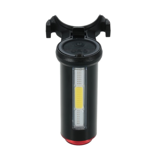 Buy Aluminum USB Rechargeable Bicycle Light Taillight LED Warning Safety Bycicle Cycling Bike Rear Tail Lamp