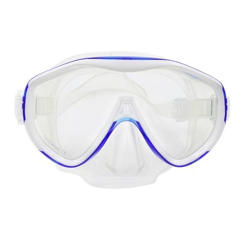 Buy Menu2019s Womenu2019s Anti-fog Diving Mask Snorkeling Single Window Scuba Swim Goggles Swimming Tempered Glass Lens Flexible Silicone Skirt PC Frame Adults