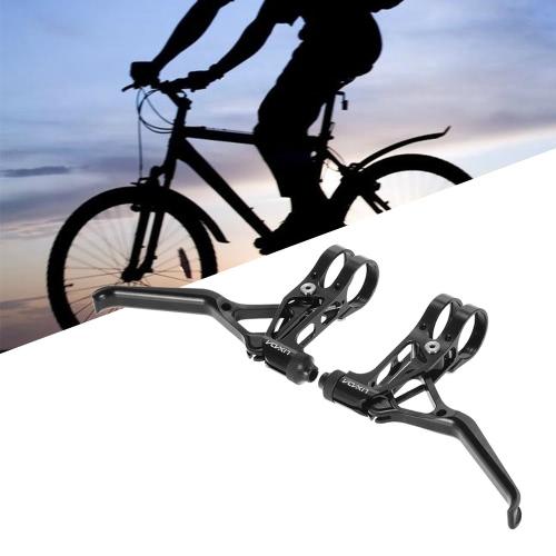 Buy 1 Pair CNC Aluminum V-brake Disc Brakes Lever Mountain Bike Bicycle Brake Handle Crank 3-Finger