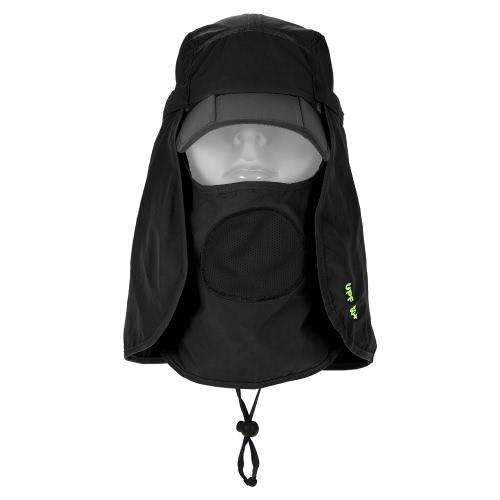 Buy Multi-Function Folding Sun Cap Flap Hat 360u00b0 Protection UPF 50+ Baseball Removable Neck Face Cover Men Women Outdoor Camping Cycling Hiking Fishing Garden