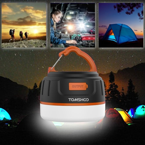 Buy TOMSHOO 2 1 LED Camping Lantern Power Bank 200LM Ultra Bright 5200mAh Rechargeable Magnetic Emergency Light Lamp