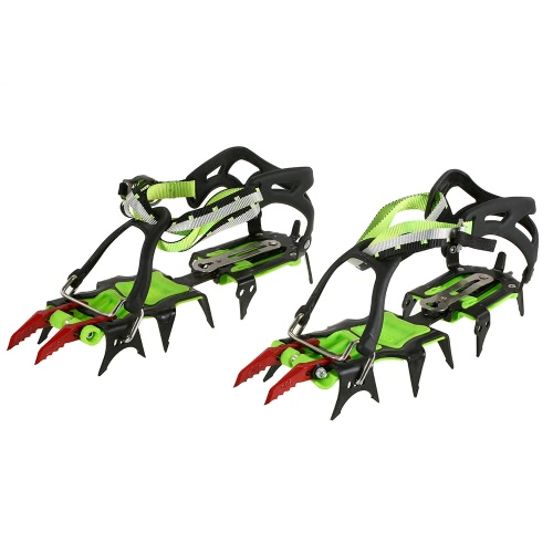 14 Teeth Professional Outdoor Climbing Crampon Manganese Steel Anti-slip Ski Belt High Altitude Mountaineering Hiking Ice Gripper with Crampons Bag от Tomtop.com INT