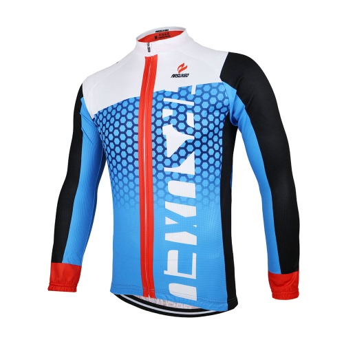 Buy ARSUXEO Men's Cycling Jersey Bike Bicycle Long Sleeves MTB Clothing Shirts