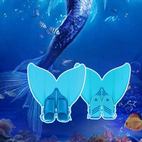 Buy Teen Teenager Mermaid Swim Fin Diving Monofin Swimming Foot Flipper
