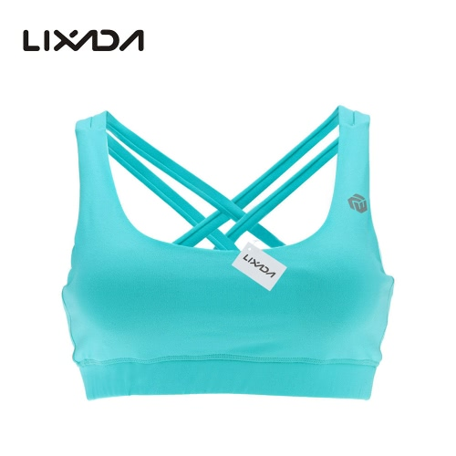 Lixada Women's High Impact Full Coverage Wire Free Run Sports Bra for Yoga Gymnastics