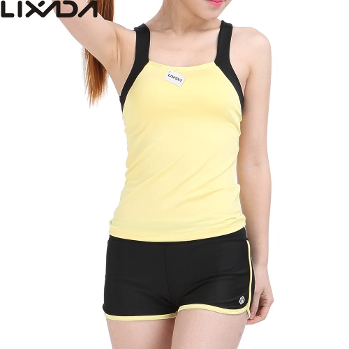 Buy Lixada Women Sleeveless Breathable Yoga Set Sports Singlet Top Bra + Shorts Running Fitness Gym