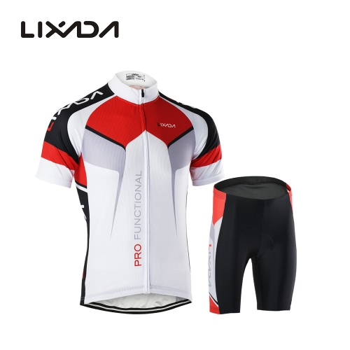 Men Breathable Quick Dry Comfortable Short Sleeve Jersey + Padded Shorts Cycling Clothing Set Riding Sportswear от Tomtop.com INT