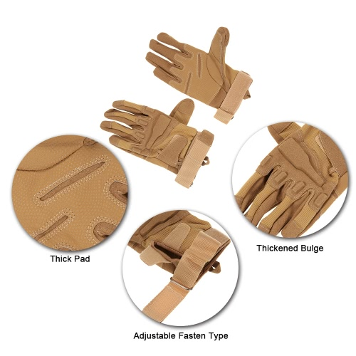 Hard Knuckle Tactical Gloves Full Finger Sport Shooting Paintball Hunting Riding Motorcycle
