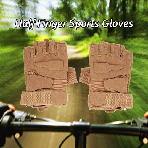 Hard Knuckle Tactical Gloves Half Finger Sport Shooting Hunting Riding Motorcycle
