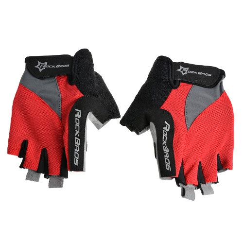 ROCKBROS Unisex Breathable Half Finger Riding Gloves Road Cycling Gloves Racing Riding Motorcycling Skiing Hiking Outdoor