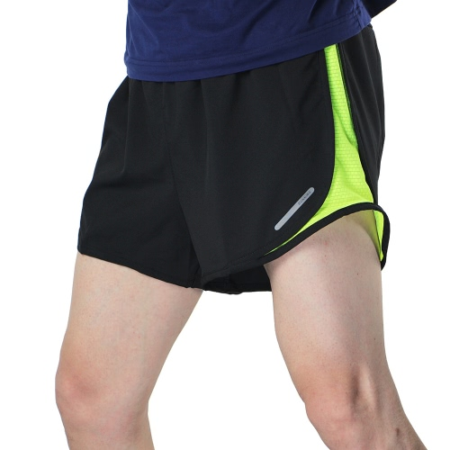 Buy Arsuxeo Men's 2 1 Running Shorts Quick Dry Marathon Training Fitness Cycling Sports Trunks