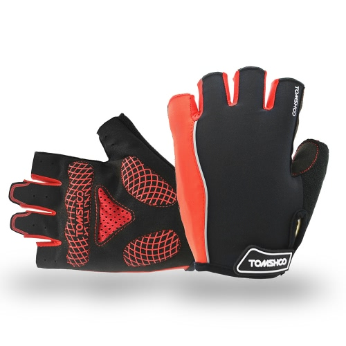 TOMSHOO Cycling Gloves Men's Women's Outdoor Sports Mountain Bike Bicycle Half Finger Cycling Gloves Non-slip Gel Pad Breathable Biking Riding Gloves